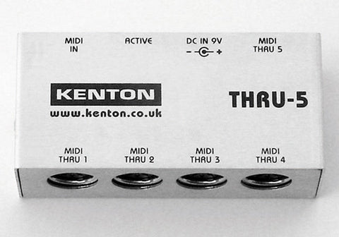 Kenton THRU-5 MIDI in to 5 MIDI thru