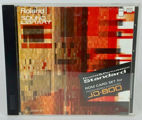 "ROM card set ""Drums & Percussion Standard"" for JD-800 (SL-JD80-01)"