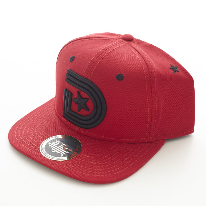 ***YEAR OF THE LIGHT SNAPBACK CAP in Red and Black