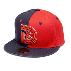 Vintage Snapback Split in Navy & Red