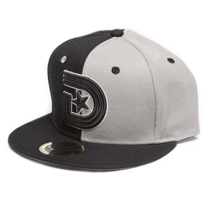 Vintage Snapback Split in Gray & Black