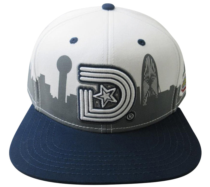 YEAR OF THE LIGHT (3D Land) SNAPBACK CAP in White and Navy