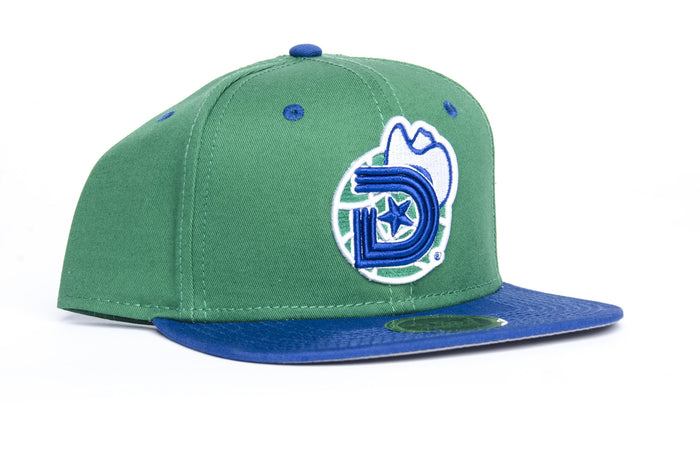 *** YEAR OF THE LIGHT (Baller Alert) SNAPBACK CAP in Green and Blue