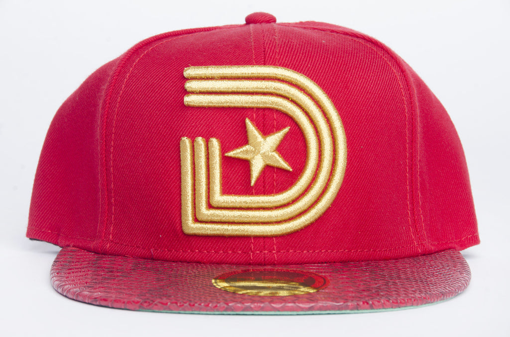 1841 Urban Couture Strapback Strapback in Red & Gold
