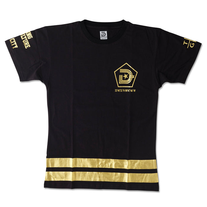 **YEAR OF THE LIGHT TEE IN GOLD AND BLACK