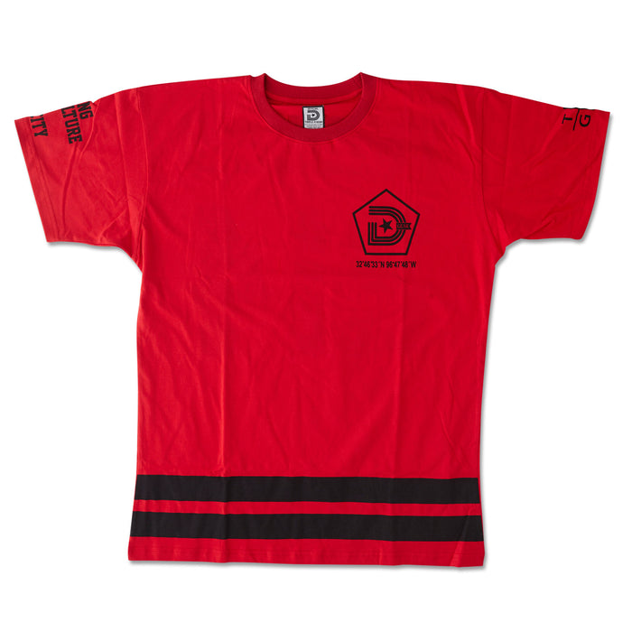 **YEAR OF THE LIGHT TEE IN RED AND BLACK