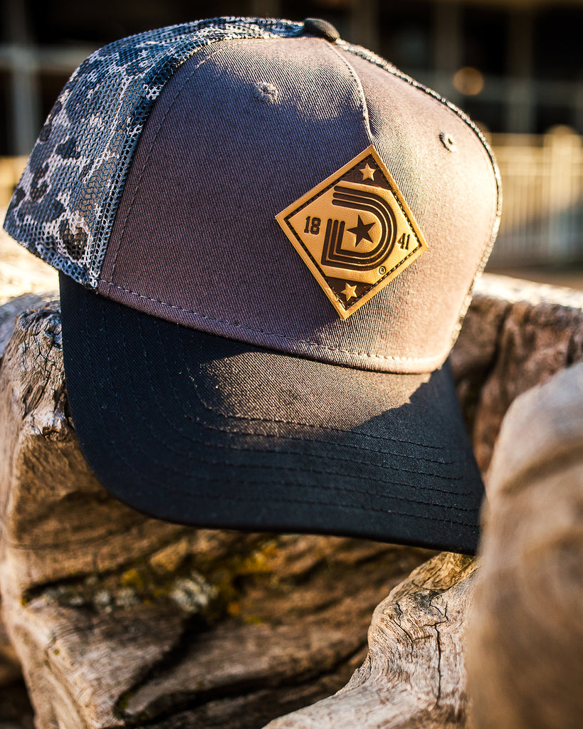 OG  Logo Curved Bill Mesh Trucker Hat