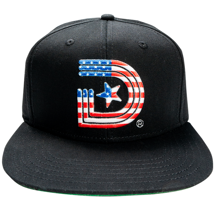 "Labor Day  OG LOGO ""SELF MADE"" American Flag in Black"