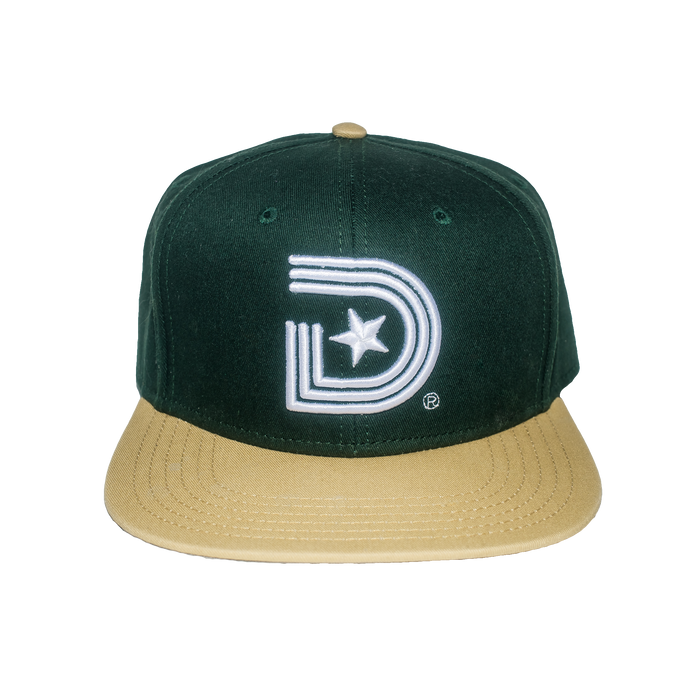 Classics Oak Town Snapback in Green & Vintage Yellow