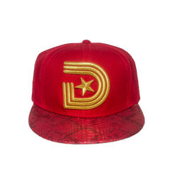 1841 Snakeskin Urban Couture Strapback in Red & Gold