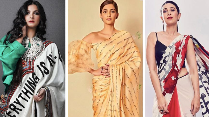 Post Slogan T-Shirt Mayhem, Sarees and Lehengas Follow Suit