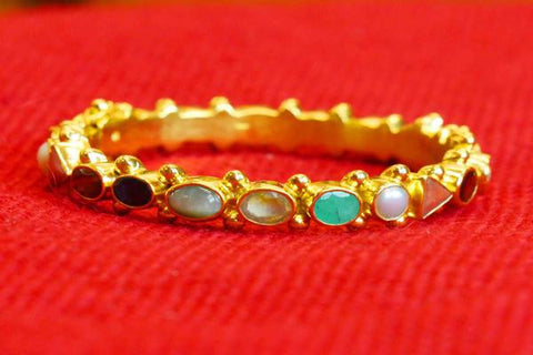 Multicolor stone Bangle