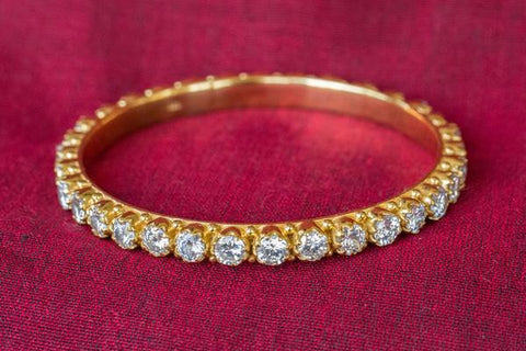 Zircon and Gold Bangles