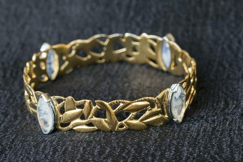 Silver Gold Plated Cut Work Bangles