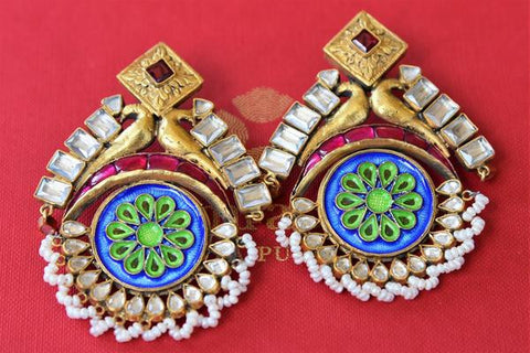 Enamel Work Earrings