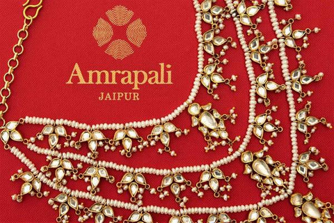 Amrapali Glass and Pearl Layered Necklace