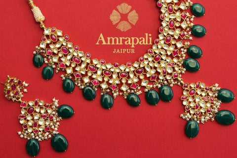Amrapali Gold Plated Indian Necklaces in USA Indian Gold Jewelry
