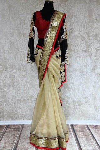 Bollywood Designer Sequin Embroidery Saree