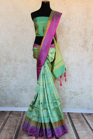 Green Tanchoi Silk Saree