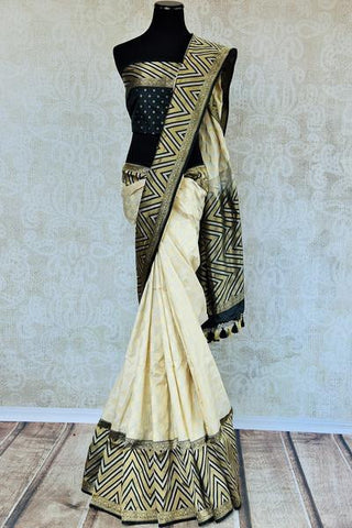 Pure Elegance white saree