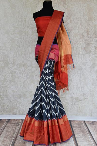 Black Ikat Saree