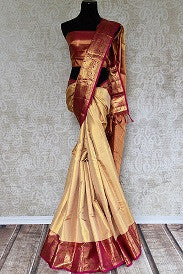 Classic Gold and Red Kanjivaram Silk Saree