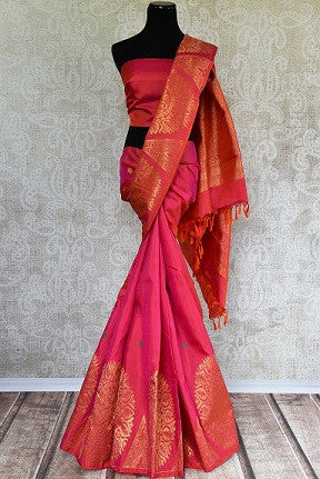 Kanjivaram Silk Saree with Zari Buta