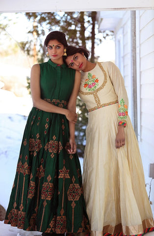 Traditional Anarkali Suits with Embroidery