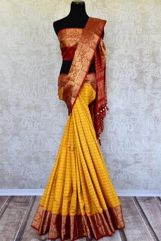 Red and maroon bridal saree - very popular for Bihari brides