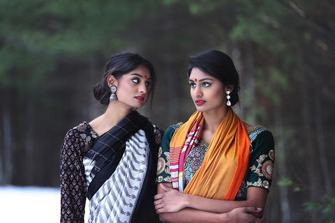 Handloom Saris with Saree Blouses