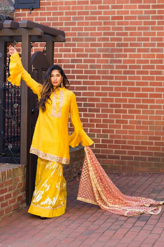 Yellow Garara Suit
