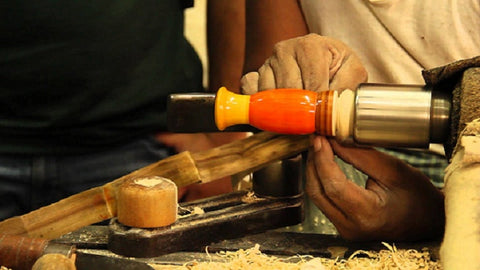 Channapatna Toy Making in process