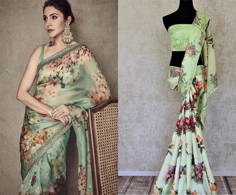floral saree on sale