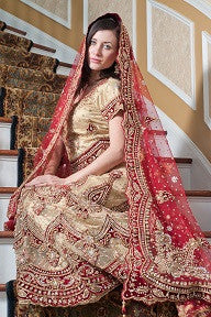 Heavy embellished bridal lehenga:
