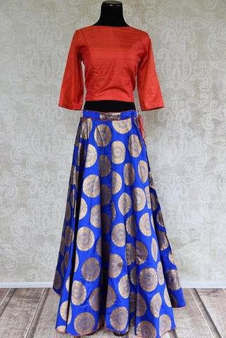 Banarasi Bridal Lehenga with Koti Blouse
