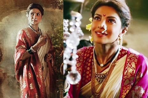 Pure Elegance tributes to four incredibly beautiful Bollywood stars in Banarasi silk sarees in four unforgettable celluloid moments - Priyanka Chopra