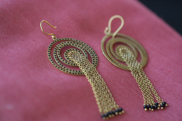20a158-silver-gold-plated-amrapali-earrings-circular-zircon-drop-bead-alternate-view