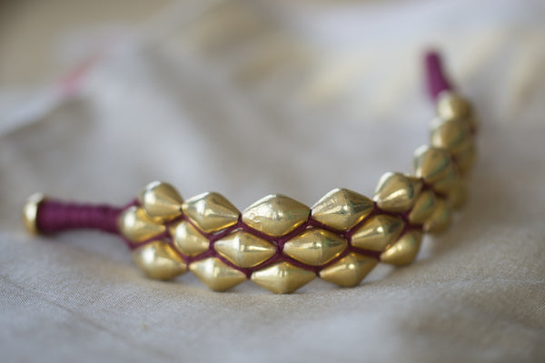 20a159-silver-gold-plated-amrapali-bangle-beaded-fuchsia-thread-work-alternate-view