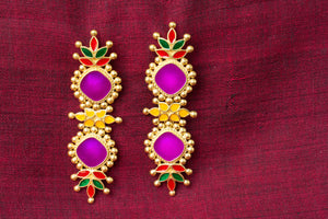20a420-silver-gold-plated-amrapali-multi-color-enamel-earrings
