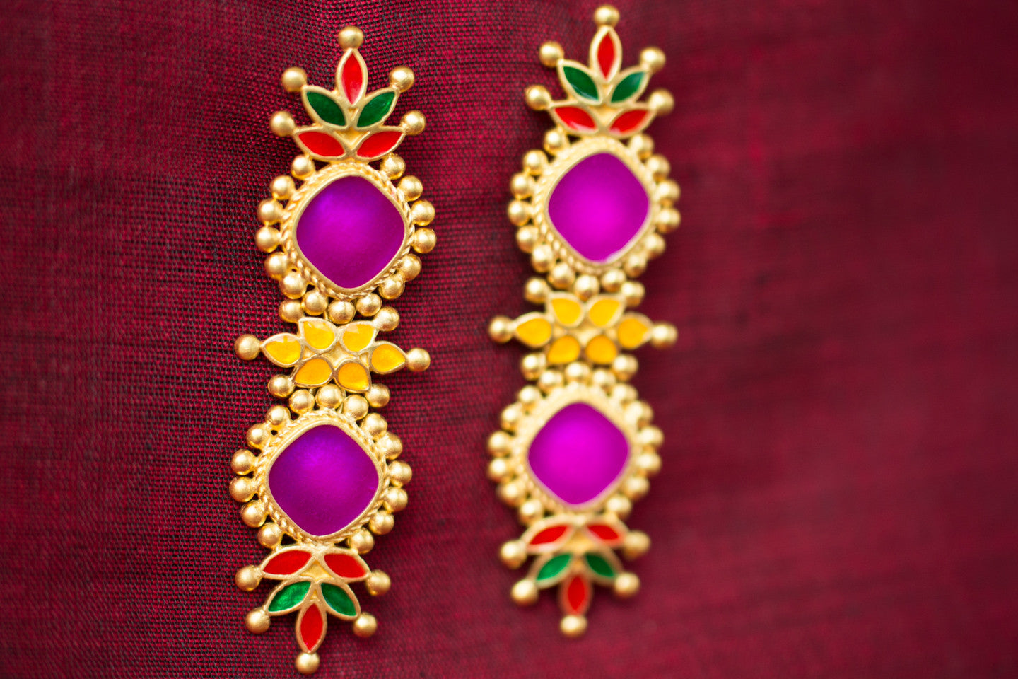 20a420-silver-gold-plated-amrapali-multi-color-enamel-earrings-alternate-view