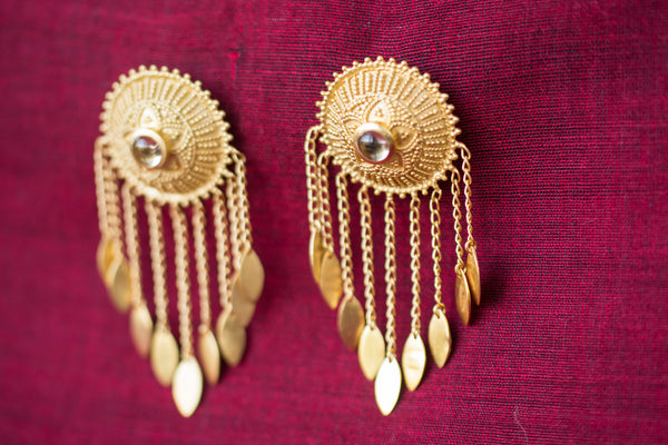 20a424-silver-gold-plated-amrapali-earrings-starburst-drop-leaf-alternate-view