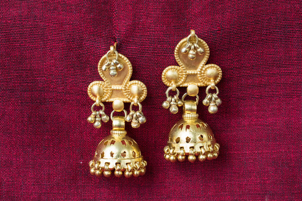 20a427-silver-gold-plated-amrapali-earrings-jhumka-bead-cut-work