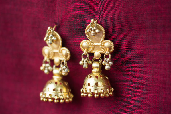 20a427-silver-gold-plated-amrapali-earrings-jhumka-bead-cut-work-alternate-view