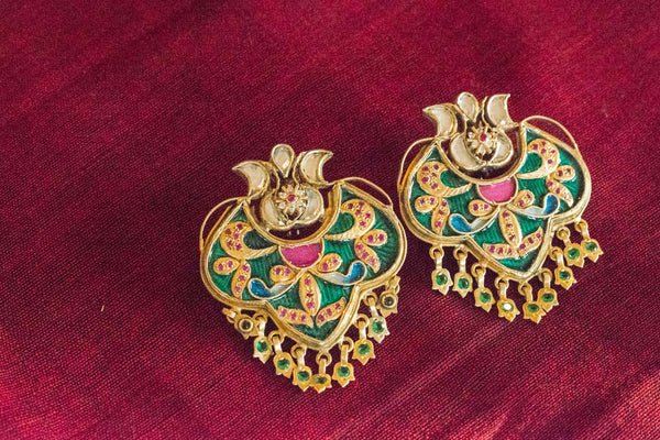 20a430-silver-gold-plated-amrapali-earrings-multi-color-enamel-zircon