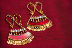 20a435-silver-gold-plated-amrapali-earrings-red-enamel-zircon-alternate-view