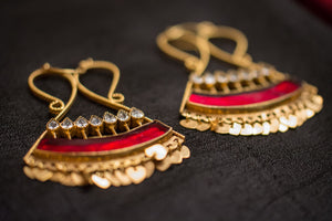 20a435-silver-gold-plated-amrapali-earrings-red-enamel-zircon-alternate-view-2