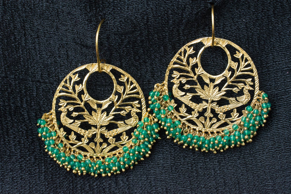 20a436-silver-gold-plated-amrapali-earrings-drop-green-onyx-beads-cut-work