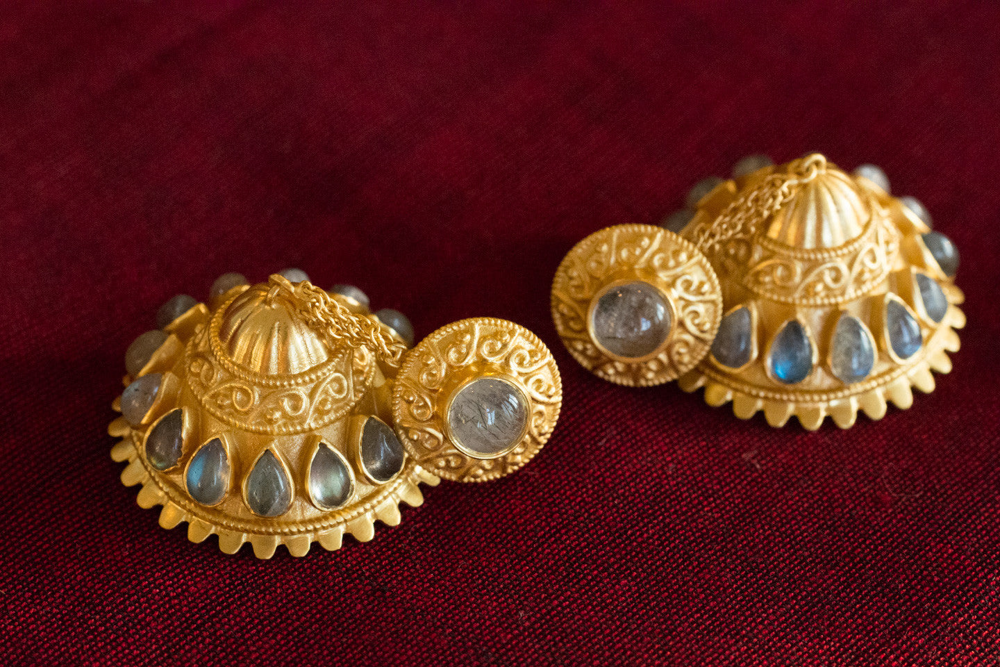 20a446-Silver-Gold-Plated-Amrapali-Earring-Moonstone