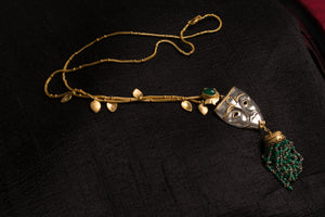 20a454-silver-gold-plated-amrapali-necklace-leaf-mask-green-onyx
