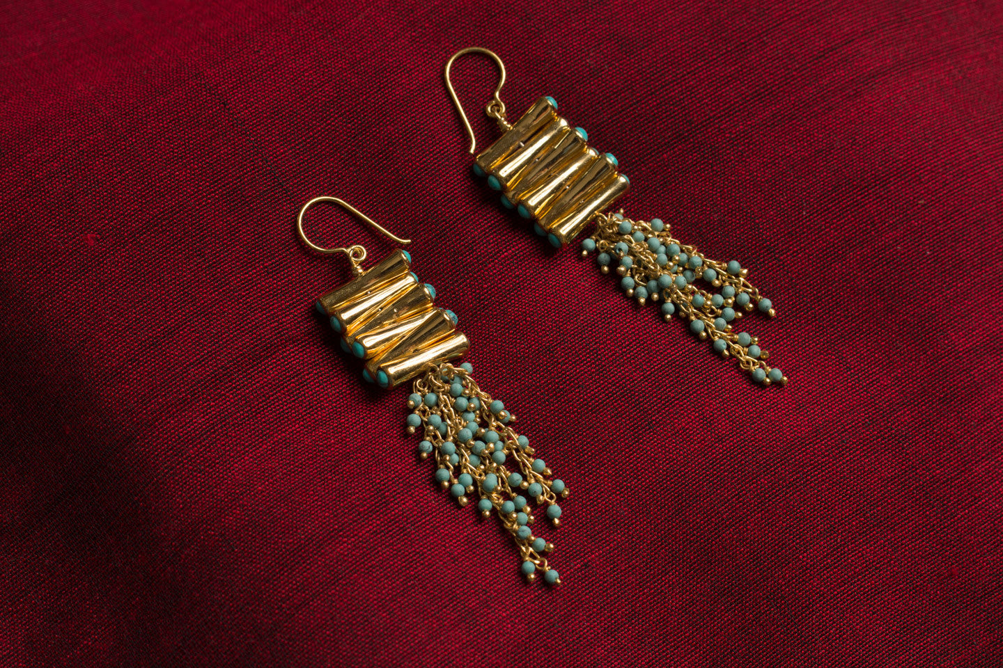 20a457-silver-gold-plated-amrapali-earrings-drop-turquoise-gold-bead-alternate-view